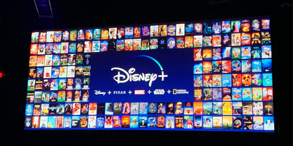 With the feautured movies and tv shows in the backround, Disney+ makes its grand enterance.