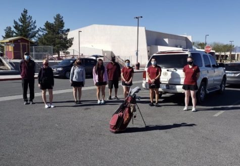 PVHS girls golf heading off to their first meet  Coach Nygaarrd, E. Gent, T. Smith, B. Nygaarrd, Coach Hopkins, S. Hopkins, S. Monjaras, A. Holmes